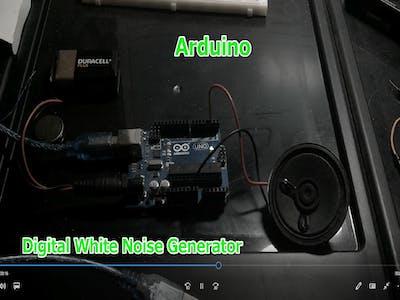 Bit banging Digital White Noise Generator On Any Digital Pin