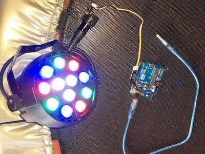 Control a LED Spotlight set-up with an Arduino via DMX