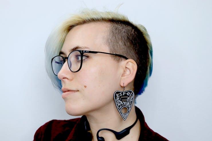 As an earring! :)