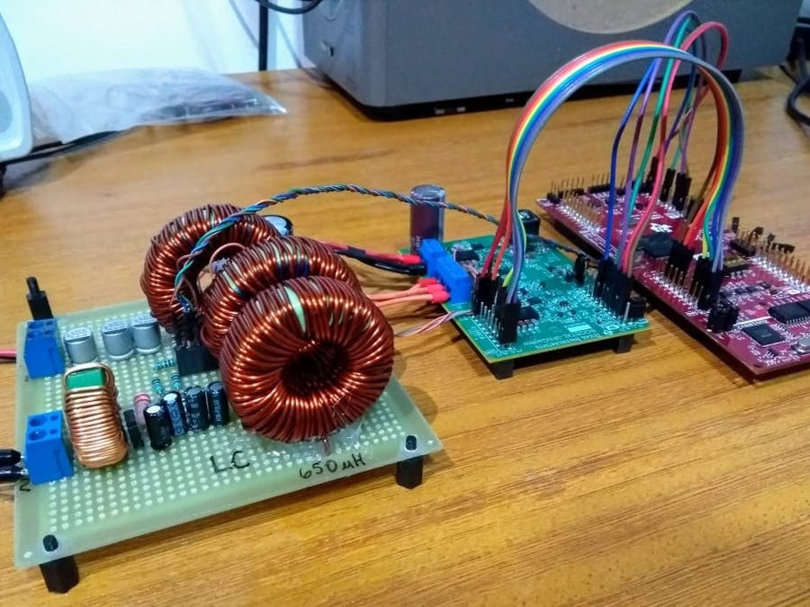 Microsetup for power electronics experiments