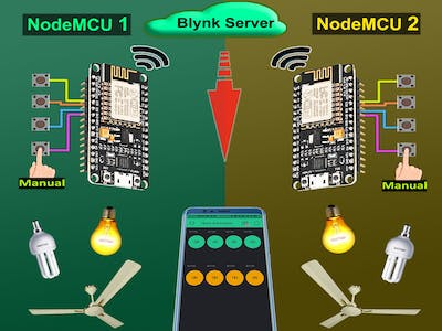 Smart Home With Multiple NodeMCU ESP8266 Network With Blynk