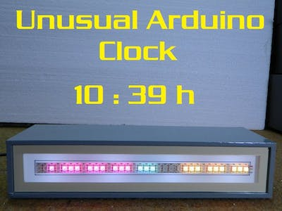 DIY Unusual Linear Clock