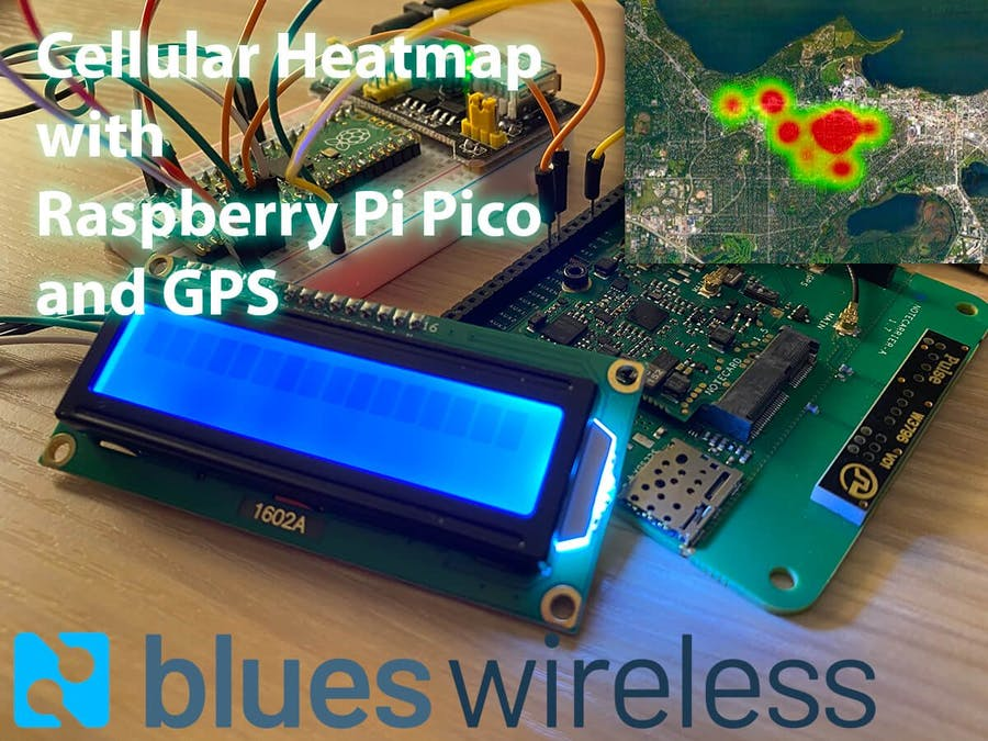 Cellular Signal Heatmap with Raspberry Pi Pico and GPS