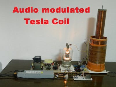 DIY Arduino Audio modulated (misical) Tesla Coil