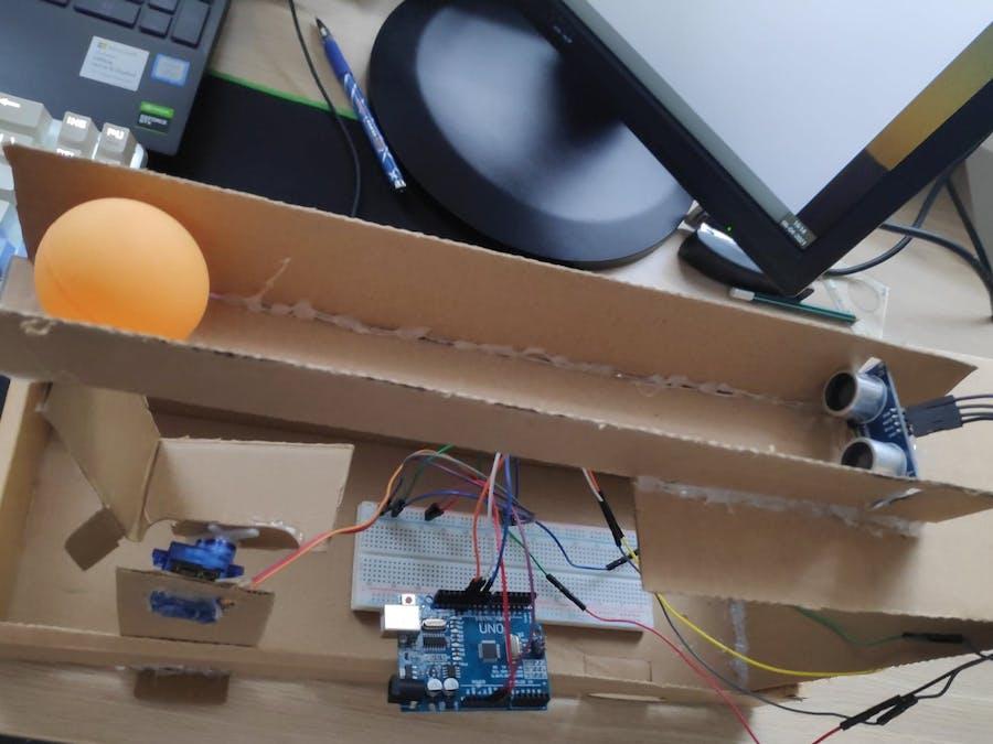 Self Balancing Ball and Beam using PID control