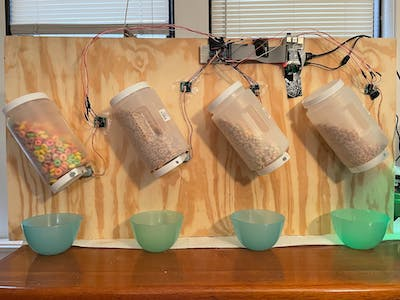 Automatic Cereal Dispenser With Facial Recognition