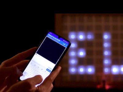 Bluetooth Controlled LED Matrix