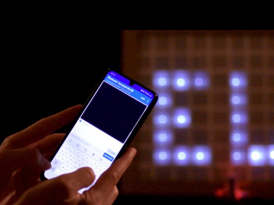 Bluetooth Controlled LED Matrix