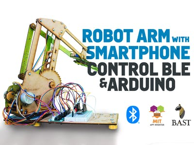 Robot Arm with Smartphone Control BLE and Arduino