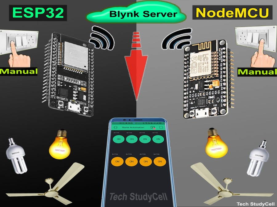 Blynk Home Automation with Multiple ESP32 & NodeMCU Network