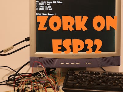 Zork on ESP32 with VGA, PS2 and SD
