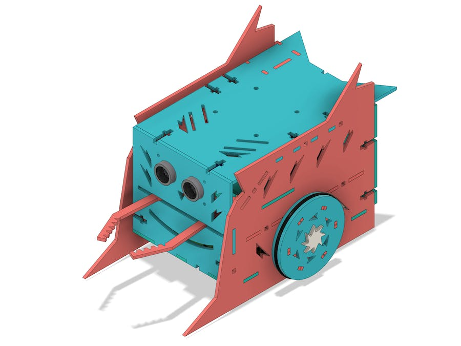 Fighting robot with claws