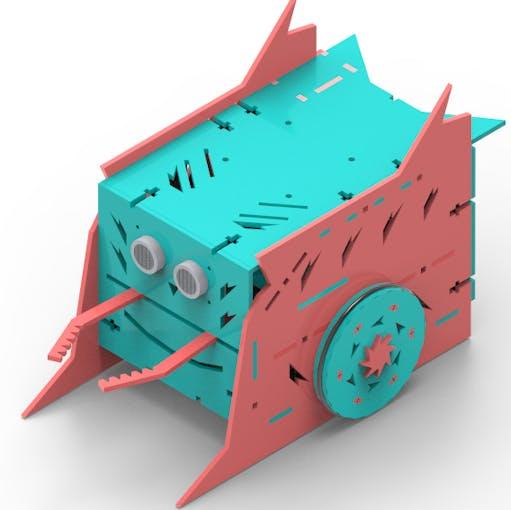 Figure 1 - Combat Robot with gripper.