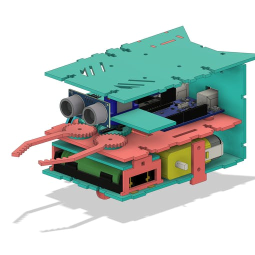 Figure 3 - Internal lower and upper surfaces of the robot.