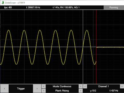 ZaidaScope - Arduino Oscilloscope, 8-Ch, max 100 kHz
