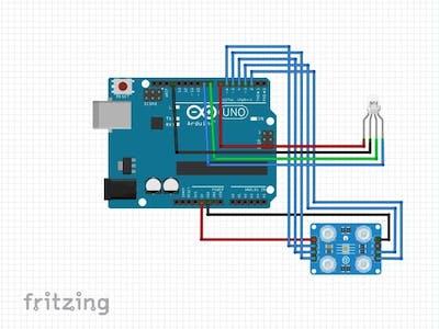 Arduino Color Sensor with RGB LED