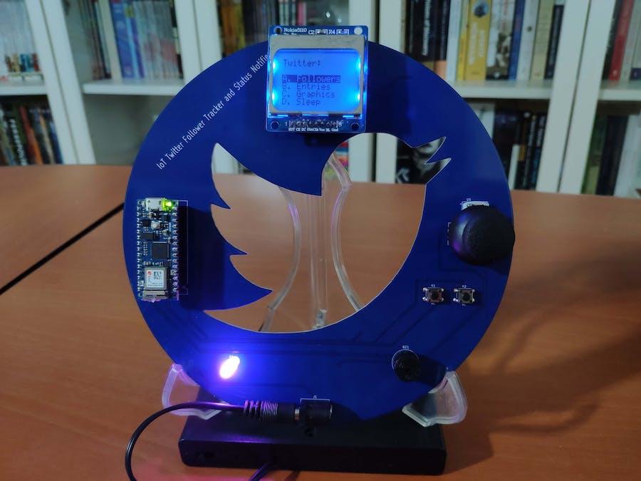 IoT Twitter Follower Tracker and Status Notifier
