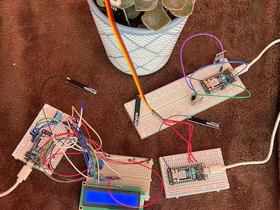 Temperature and Moisture Sensors with Alert