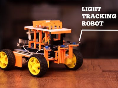 Arduino Light Tracking Robot with LDR