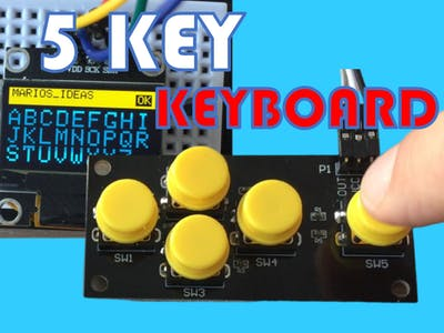 Input text into your arduino code using 5 key keyboard`