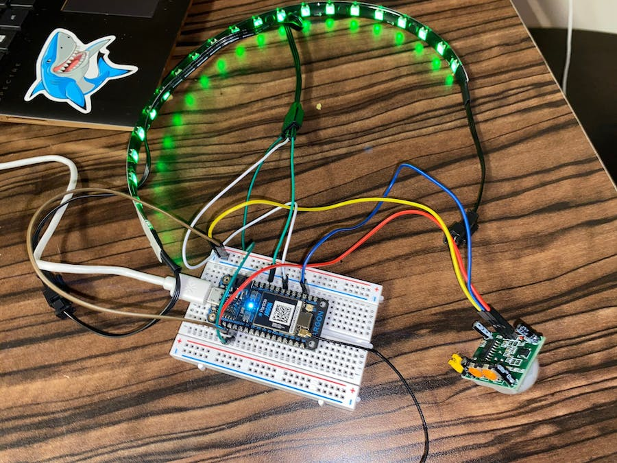 Sensor Controlled Entrance and Stop LED