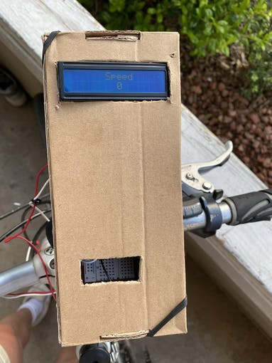 Figure 1: Top View Showing Display and Cardboard Box.