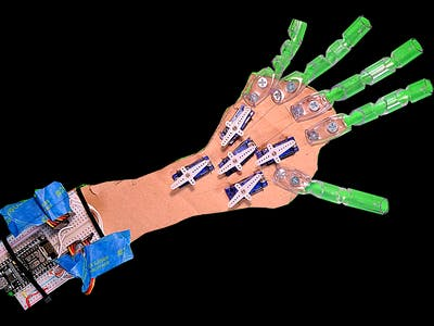 Animatronic Hand Controlled By Leap Motion