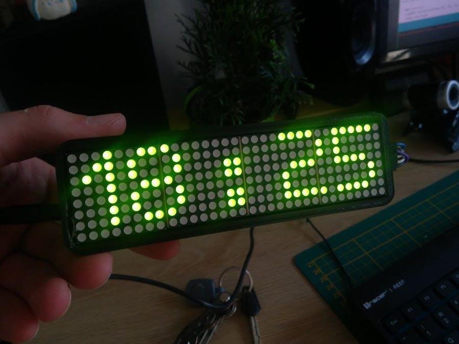 Matrix max7219 32x8 temperature humidity clock