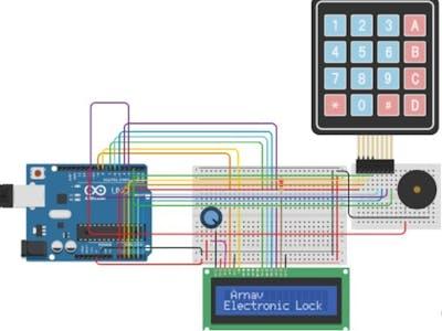 Password Protected Door Lock