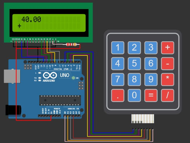 Build your calculator with Arduino UNO & LCD1602 display