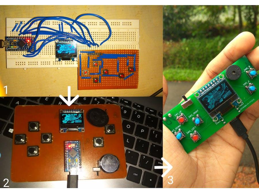 DIY Handheld game console using Arduino (Arduboy)