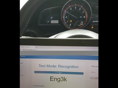 Engine Speed Recognition based on Exhaust Sound