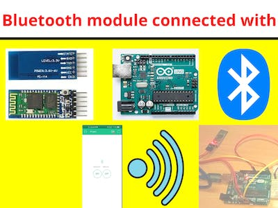 Control led through using BLYNK & Bluetooth Module