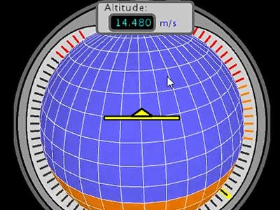 3D Artificial Horizon - Gyroscope with MPU6050 GY-521