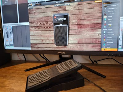 USB MIDI expression pedal for DAW VST effects