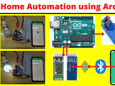 Home Automation using Arduino, Relay, Bluetooth
