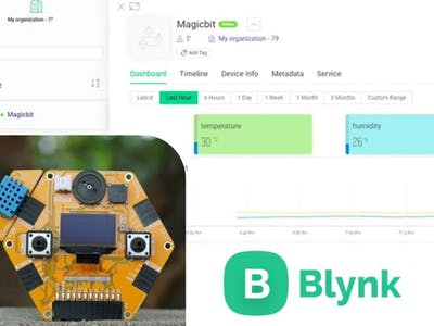 Temperature & Humidity monitoring with Blynk Cloud-ESP32