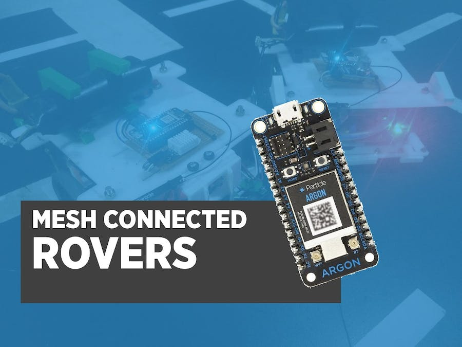 Mesh Connected Rovers with Particle