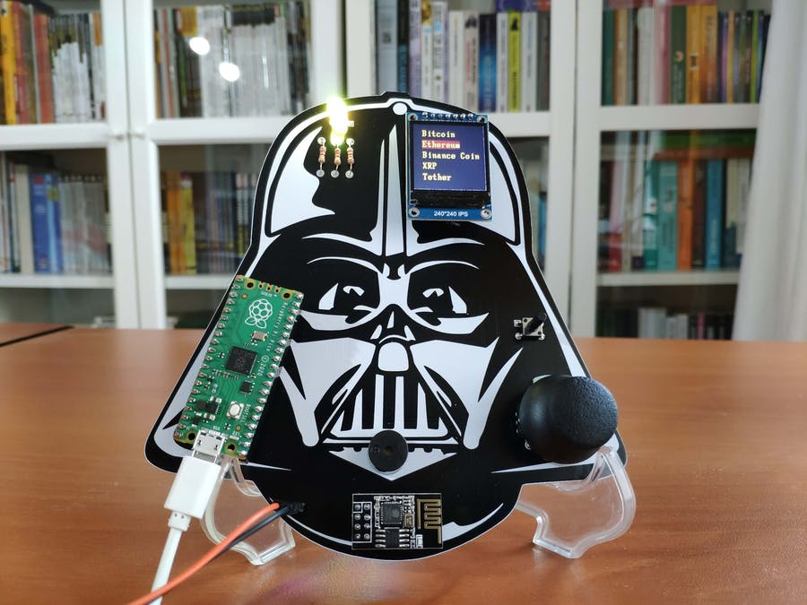 Darth Vader IoT Cryptocurrency Tracker and Display w/ Pico