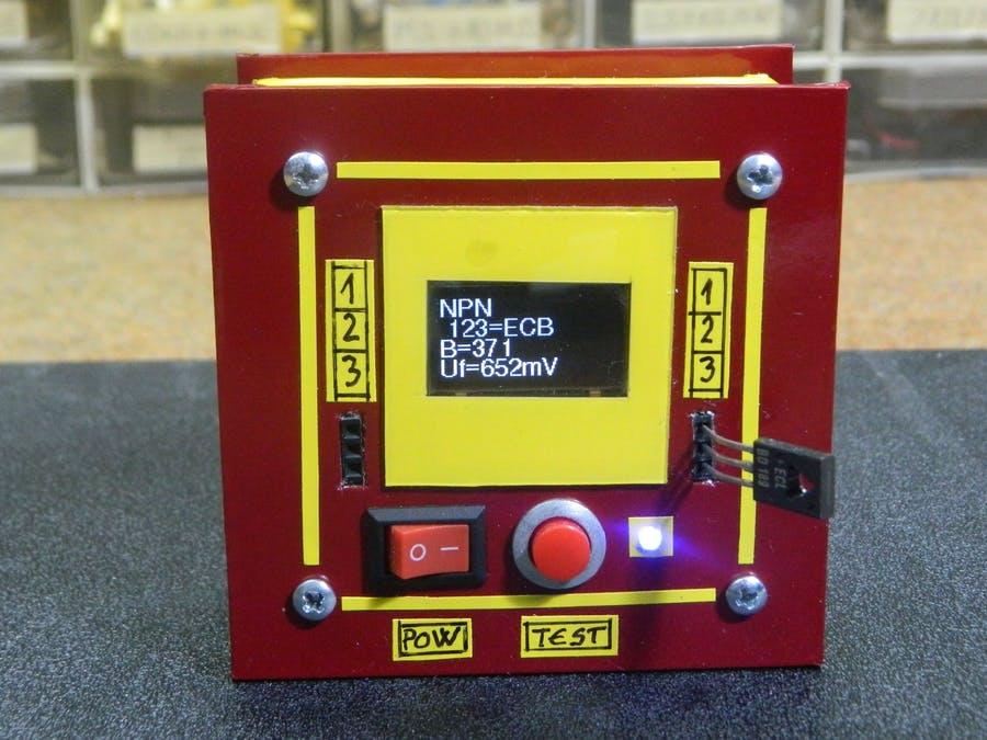 DIY super simple electronic component tester