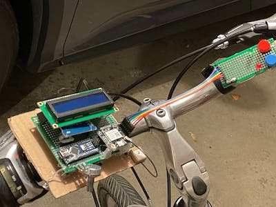 A dashboard for a bike (unfinished)