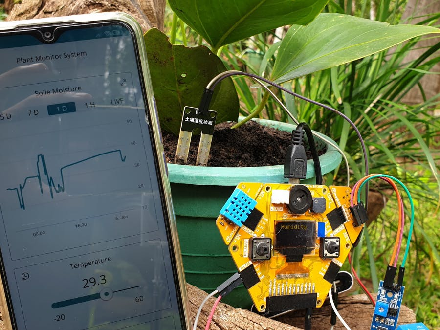 ESP32 Plant Monitoring with Arduino IOT Cloud Remote App