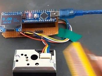 Interfacing GP2Y1014AU0F Sensor with Arduino