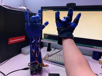 DIY Glove Controlled Robotic Hand