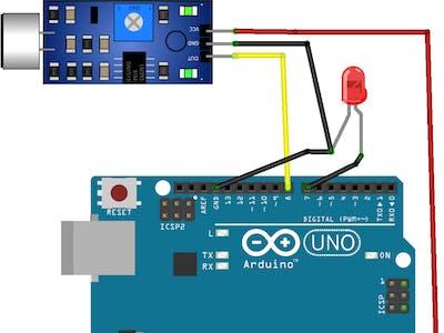 Arduino Light Clapper use Sound Detector