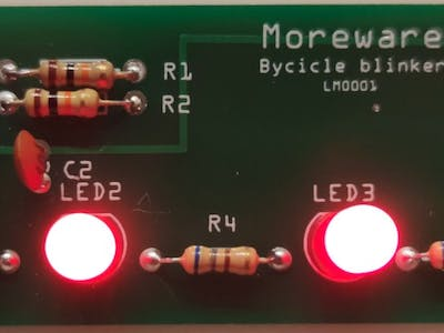 Low power bycycle blinker
