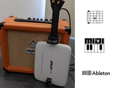 Modem Turned Into a MIDI Guitar Sort of: GuitArnet