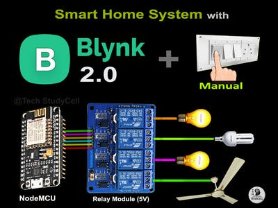 Smart Home Using NodeMCU ESP8266 and Blynk 2.0 | IoT - 2021