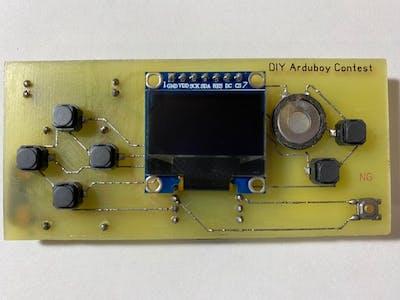 DIY Arduboy on home PCB