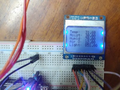 IOT Plant Monitoring with Live Dashboard and Display LCD